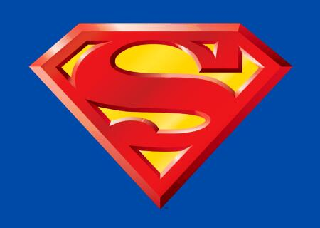 Superman 3D Logo http://lamm.mine.nu/logo-superman-3d/